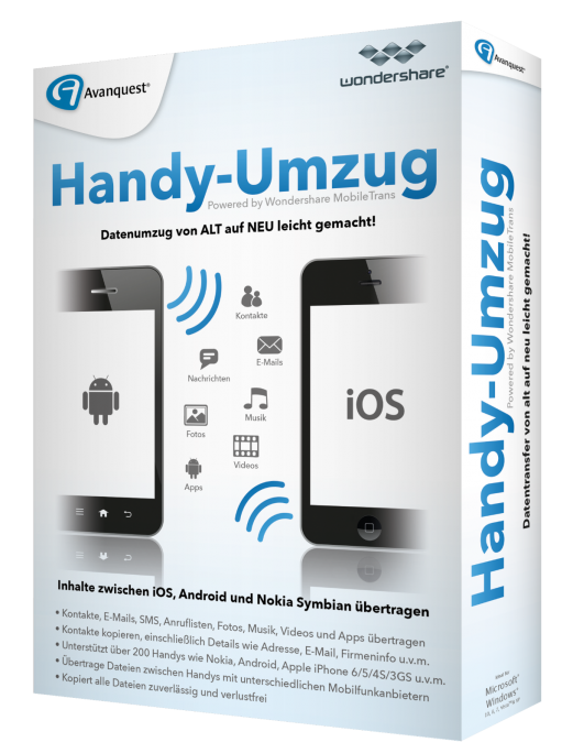 Wondershare Mein Handy Umzug Mobile Trans Win Cddvd Tools